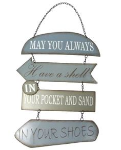 Amazon.com: May You Always Have a Shell in Your Pocket and Sand in Your Shoes, Metal Section Sign: Home & Kitchen