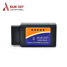 2017 ELM327 Bluetooth OBD2 Scanner V2.1 Interface Works On Android Torque Elm 327 OBDII Car Diagnostic Scanner free shipping