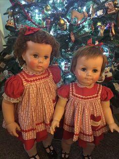 Penny Playpsl and Saucy Walker Marla's Dolls Old Dolls, Antique Dolls, Vintage Dolls, Vintage Mom, Vintage Children, Girl Dolls, Baby Dolls, Retro Christmas, Christmas Ideas