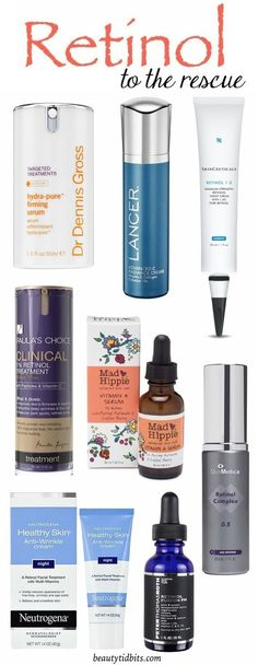 Best Retinol products for wrinkles, acne and dark spots