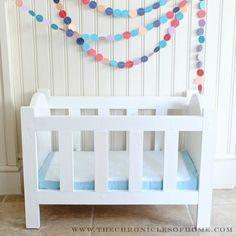 The Chronicles of Home: {DIY} Doll Crib