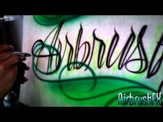How to Airbrush Tattoo style script lettering with scrolls. Airbrush Shirts, Airbrush Tattoo, Airbrush Art, Air Brush Painting, Car Painting, Airbrush Designs, Custom Paint Jobs, Script Lettering, Letter I