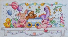 Embroidered toy shelf, perfect keepsake for any new baby!