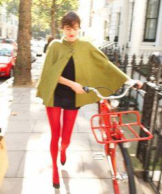 Dashing Tweeds reflective cycling cape