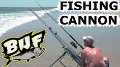 BEACH FISHING CANNON BAIT CASTER 300 YARD CASTING OFFSHORE 6 FOOT SHARKS