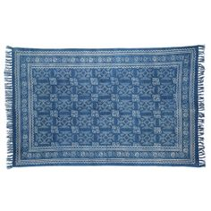 4'x6' handwoven Batik area rug