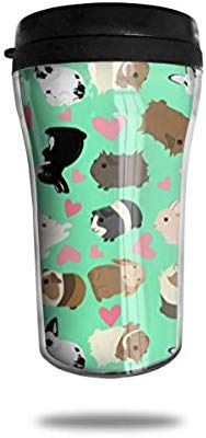 9c66cba9584 FTRGRAFE Guinea Pigs Pattern Travel Coffee Mug 3D Printed Portable Vacuum  Cup,Insulated Tea Cup Water Bottle Tumblers for Drinking with Lid 8.54 Oz  (250 Ml)