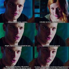 """#Shadowhunters 1x01 """"The Mortal Cup"""" - Clary and Jace"""