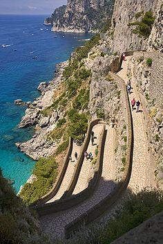 Via Krupp,Capri island,Naples,Campania,Italy,Europe.