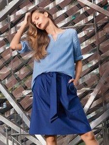 burda style: Damen - Röcke - Ausgestellte Röcke - A-Linien-Rock mit Bindeband