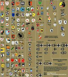 Insignias de la luftwaffe en la 2 guerra mundial.