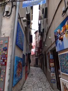 Local de muitos artistas e atelier-Rovinj Croácia