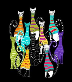 cats  <3 A COLOURFUL BUNCH <3 @