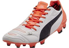 690e88336291 Puma evoPOWER 1.2 FG Leather Soccer Cleats - White and Total Eclipse