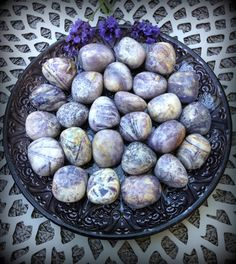 Tumbled Charoite - The Soul Stone for navigating change - by TheSageGoddess, $10.00