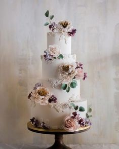 wedding cake designers white with textured patterns and pastel roses winifred kriste cake We gathered together perfect wedding cake designers in order you can find the best cake for your reception. Get inspired with these amazing wedding cakes! Floral Wedding Cakes, White Wedding Cakes, Wedding Cakes With Flowers, Wedding Cake Designs, Wedding Cake Toppers, Wedding White, Wedding Bouquets, Cake Wedding, Flower Cakes