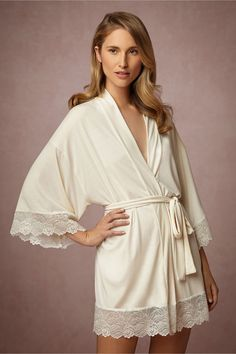 BHLDN Venezia Robe in Bride Bridal Lingerie Chemises & Robes at BHLDN