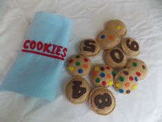 Felt Counting Cookies by LamaMamaCreations on Etsy, $25.00
