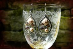 """Ohrhänger - ovale Ohrringe """"20er jahren"""" style in rosé - ein Designerstück von…"""