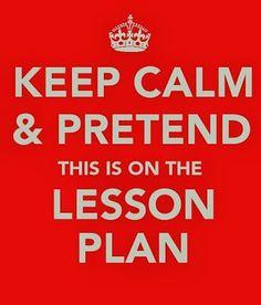 Keep Calm and Pretend...Monday Motivator!