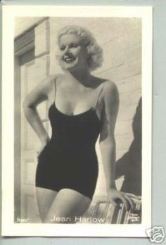 Jean Harlow #swimsuit...likely the photo that inspired Marilyn Monroe