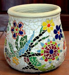 mosaic planters pots - Google Search sigalit art More