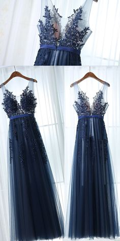 Simple Prom Dress,A Line Sleeveless Dark Navy Prom Dress,Applique Long Prom Dresses,Evening Dresses, Shop plus-sized prom dresses for curvy figures and plus-size party dresses. Ball gowns for prom in plus sizes and short plus-sized prom dresses for Dark Blue Bridesmaid Dresses, Navy Prom Dresses, Tulle Prom Dress, Dance Dresses, Pretty Dresses, Beautiful Dresses, Evening Dresses, Formal Dresses, Dress Lace