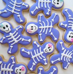 Adorable Skeleton Sugar #Cookies for #Halloween