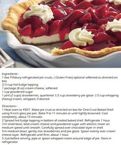 Black Bottom Strawberry Pie