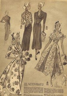Exclusive Image of Old Sewing Patterns Old Sewing Patterns Free Vintage Sewing Patterns German Die Alma Mode Vintage Vintage Dress Patterns, Vintage Dresses, Vintage Outfits, Vintage Clothing, Vintage Fabrics, Moda Vintage, Sewing Patterns For Kids, Clothing Patterns, Fun Patterns