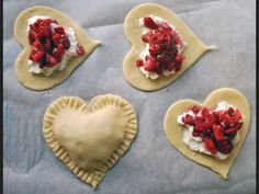 Heart jam pastries