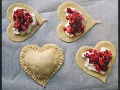 Heart jam pastries