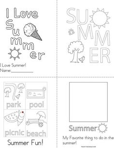 I Love Summer Book from TwistyNoodle.com Summer Is Here, Summer Fun, Dinosaurs Preschool, Road Trip Activities, Summer Books, Personalized Books, Summer Picnic, Kids Prints, Head Start