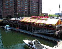 Barking Crab Restaurant in Boston, MA ... sit inside by the fire in the winter ad outside in the summer. I loved it!!!!!