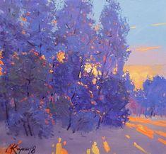 49 Ideas for winter landscape acrylic tree art Impressionist Landscape, Watercolor Landscape, Landscape Art, Landscape Paintings, Art Paintings, Landscapes, Landscape Illustration, Illustration Art, Winter Drawings