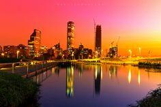 Santiago de Chile at Sunset