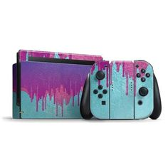 Personalize your Switch Bundle with the Paint Splatter Purple Switch Bundle Skin by Skinit. Buy the Paint Splatter Purple Switch Bundle Skin online now. Nintendo Switch Accessories, Gaming Accessories, Nintendo Switch Case, Gaming Room Setup, Metal Gear Solid, Paint Splatter, Cute Gif, Super Smash Bros, Pokemon Cards