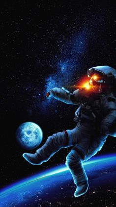 Astronaut Space Surfing - iPhone Wallpapers