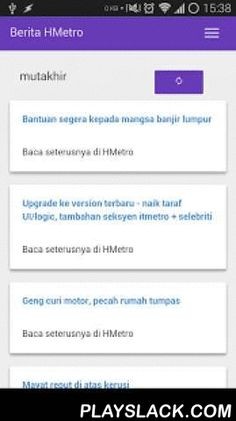 Berita Dari Harian Metro BDHM  Android App - playslack.com , Beta: Listen to the news! Currently testing Text-to-Speech feature, but in Bahasa Indonesia since Google do not have Bahasa Melayu voice. Hope that's ok, for now. Don't rate the app based on this beta feature, ya :)If you don't feel like reading, let your phone read it to you. You can search for articles too.Read/listen to the news from Harian Metro / myMetro. Get notified of latest news.Only a few sections are available Mutakhir…