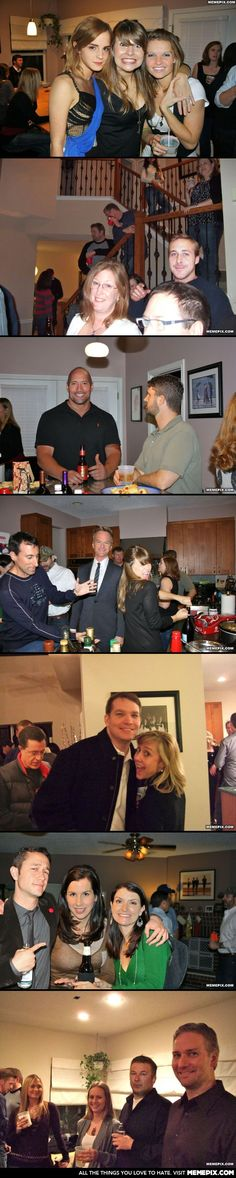 A guy photoshops celebrities into all of his holiday party photos.... MY HERO