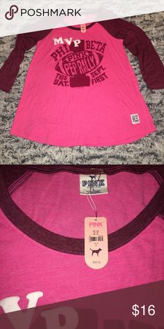 32517462c49 Victoria s Secret PINK Phi Beta Baseball Tee L Victoria s Secret pink  collection size Large vintage mvp