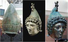 The Crosby Garrett Helmet – copper alloy Roman cavalry helmet discovered in England Viking Shop, Tribal Outfit, Ancient Vikings, Military Gear, Fantasy Armor, Antique Shops, Headgear, Roman, Medieval