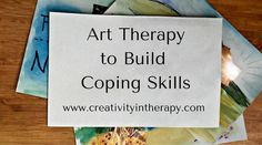 Art Therapy to Build Coping Skills | Creativity in Therapy | Carolyn Mehlomakulu #creativityintherapy