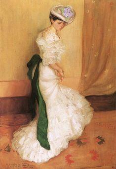 The Green Sash - 1904. Frederick Carl Frieseke
