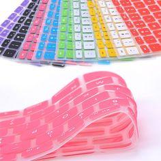9 colores del caramelo de silicona teclado cubierta de piel para apple macbook pro mac 13 15 17 aire 13