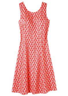 オーラ・カイリー・オーガニックコットン・サテン・ロータスフラワー・ノースリーブドレス
