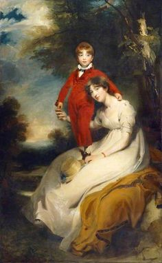 Mrs Charles Thellusson, née Sabine Robarts (1775–1814), and Her Son, Charles Thellusson (1797–1856)  by Thomas Lawrence  Date painted: c.1804  Oil on canvas, 240 x 146 cm  Collection: English Heritage, Brodsworth Hall