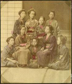 Women, Japan  Photograph. Donated by principal Preben von Irgens-Bergh.