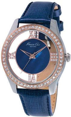 Kenneth Cole Ladies Two Tone Glitz Watch with Transparent Dial # KC2871