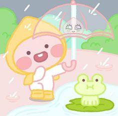 Pretty Art, Cute Art, Apeach Kakao, Kakao Friends, Friends Wallpaper, Cute Designs, Cute Drawings, Cute Wallpapers, Chibi